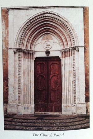 Door of the church of St. Francis in Orvieto