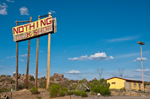 what is left of Nothing, Arizona