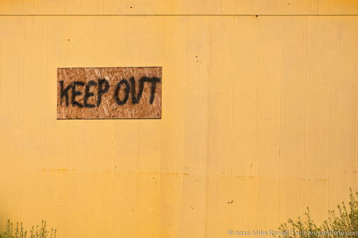 Keep Out sign in Nothing, Arizona