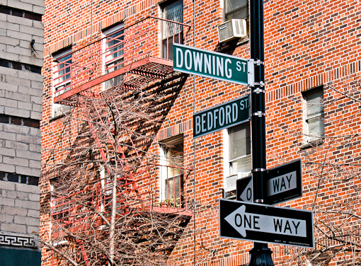 Intersection of Bedford and Downing Streets in New York City, courtesy of Delusion Productions